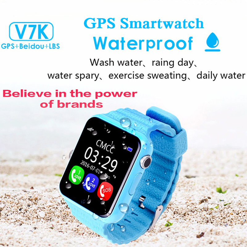 Children Security Anti lost GPS Tracker Waterproof Smart Watch V7K 1.54'' Screen With Camera Kid SOS Emergency For IOS&Android(China (Mainland))