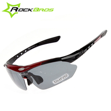 Hot! RockBros Polarized Cycling Sun Glasses Outdoor Sports Bicycle Glasses Bike Sunglasses TR90 Goggles Eyewear 5 Lens,4 Colors(China (Mainland))