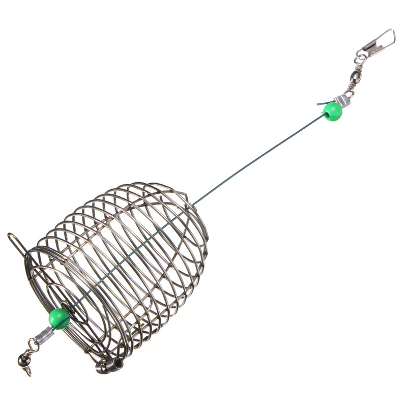 stainless steel wire fishing lure bait cage ball bearing