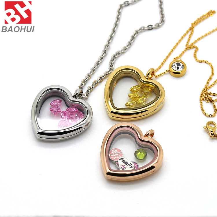Heart Silver Locket Photo Floating Front Concave 33.5*33MM Pendants Heart Photo Lockets Choker Necklace Charms<br><br>Aliexpress