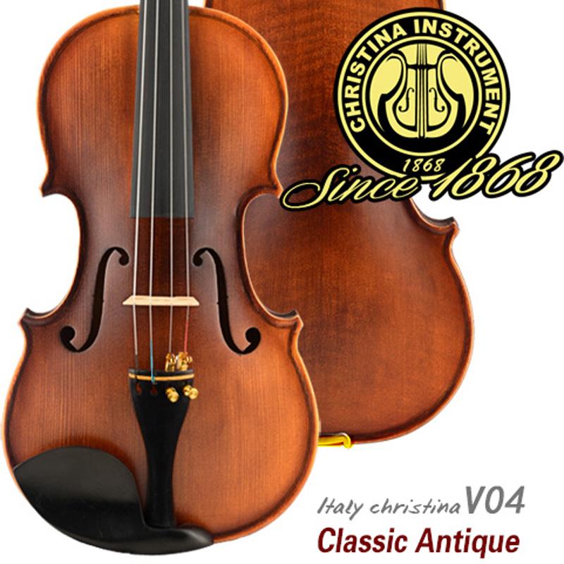Italy professional Violin Christina V04 Maple wood violino 4/4 Antique natural flamed hand made violin 3/4,send rosin,case,bow(China (Mainland))