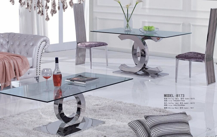 Dining table set cheap modern dining tables included coffe table(China (Mainland))