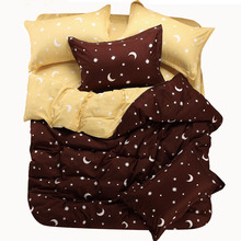 A family of four cotton bed linen cotton textile bedding quilt single or double bed student dormitory free shipping(China (Mainland))