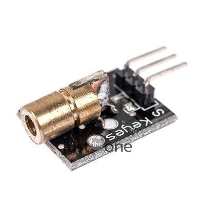650nm Laser sensor Module 6mm 5V 5mW Red Laser Dot Diode Copper Head for Arduino 50(China (Mainland))