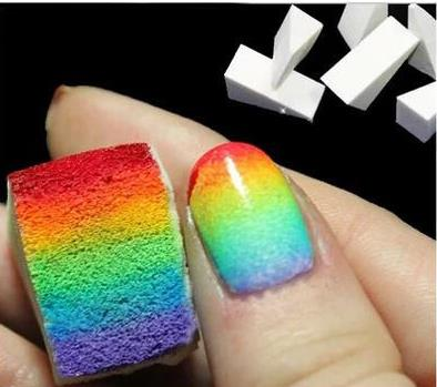 5pc Nail tools sponge gradient nail art DIY oil color stars turn creative triangular seal products