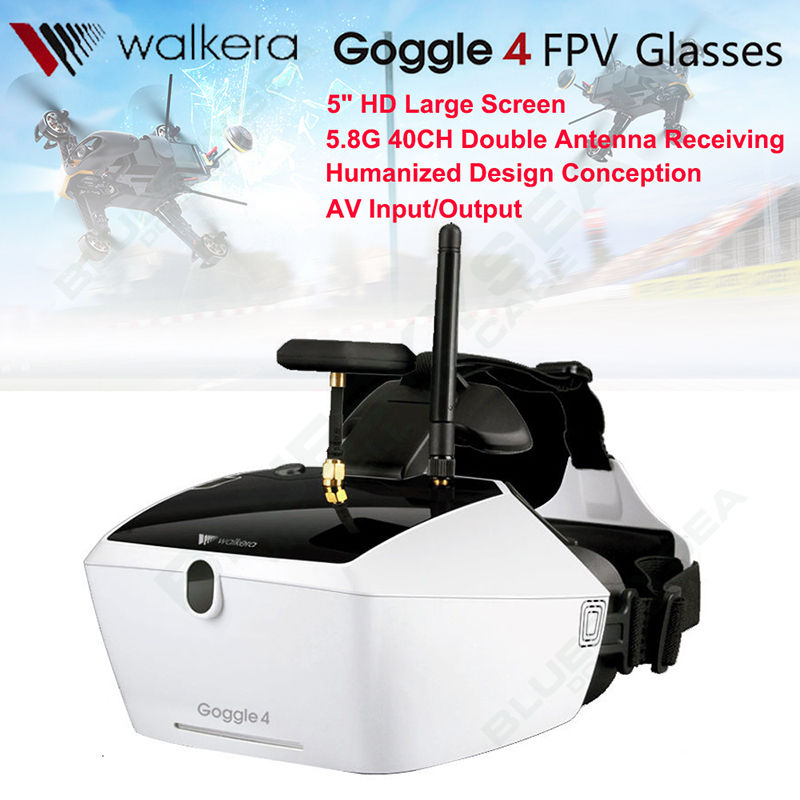 Free shipping!WALKERA Goggle4 FPV Wireless 5.8G 40CH Aerial Video Glasses for 25