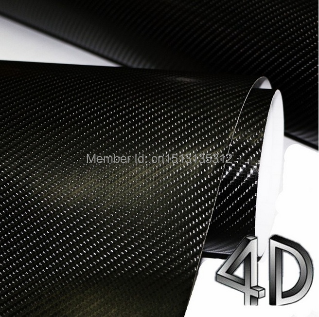 250mmX1520mm 4D Carbon Fiber Vinyl Film 3M Car Sticker Waterproof DIY Car Styling Wrap With Retail packaging Free Shipping(China (Mainland))