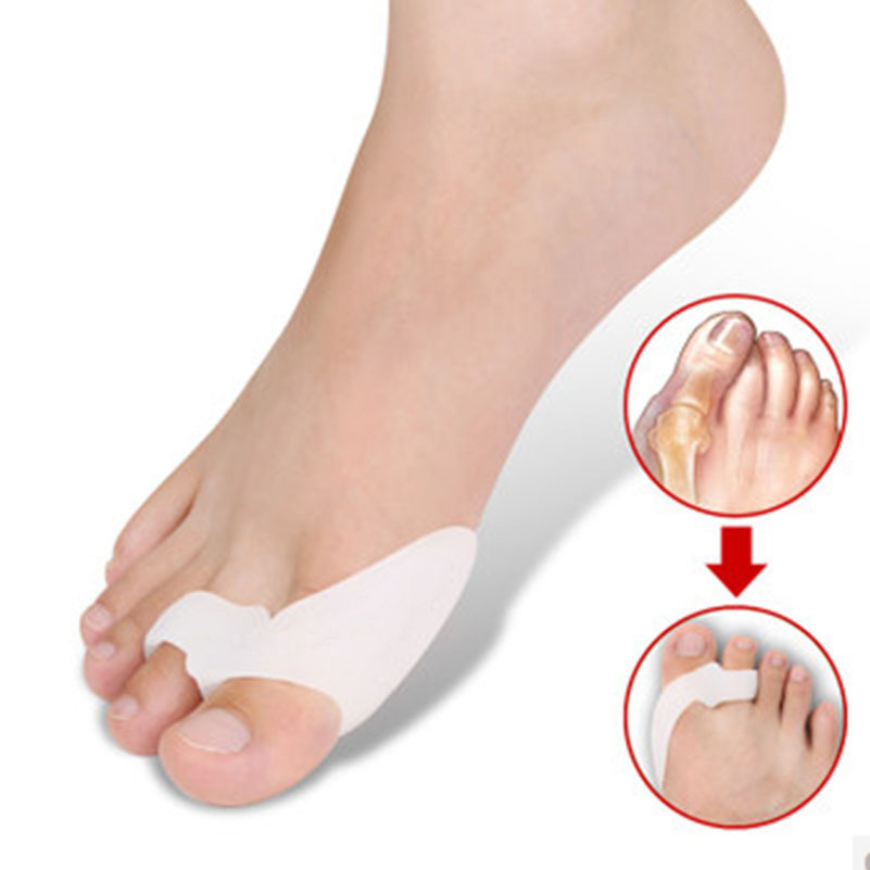 2pcs/Lot Genuine new special hallux valgus bicyclic thumb orthopedic braces to correct orthotics daily silicone toe big bone(China (Mainland))