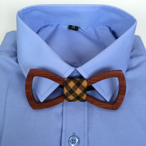Mens Rustic Wedding Suit Dress Wooden Bow Tie Cocktail Party Adjustable Tuxedo Bowtie 2016 New Fashion Scottish Neck Tie Cravat(China (Mainland))