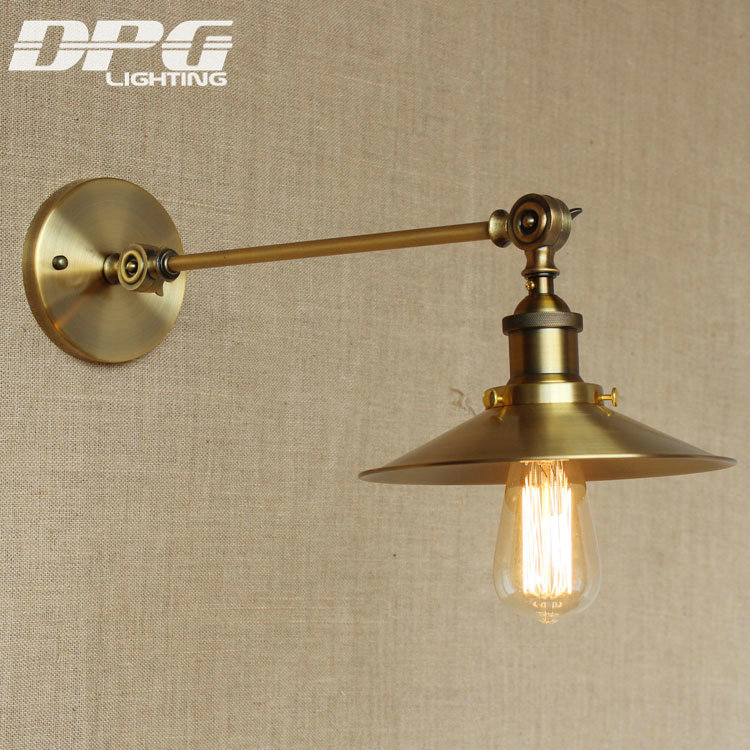 Vintage Wall Led Lamp Loft Antique Mounted Swing Long Arm lights American Classic Sconce for ...