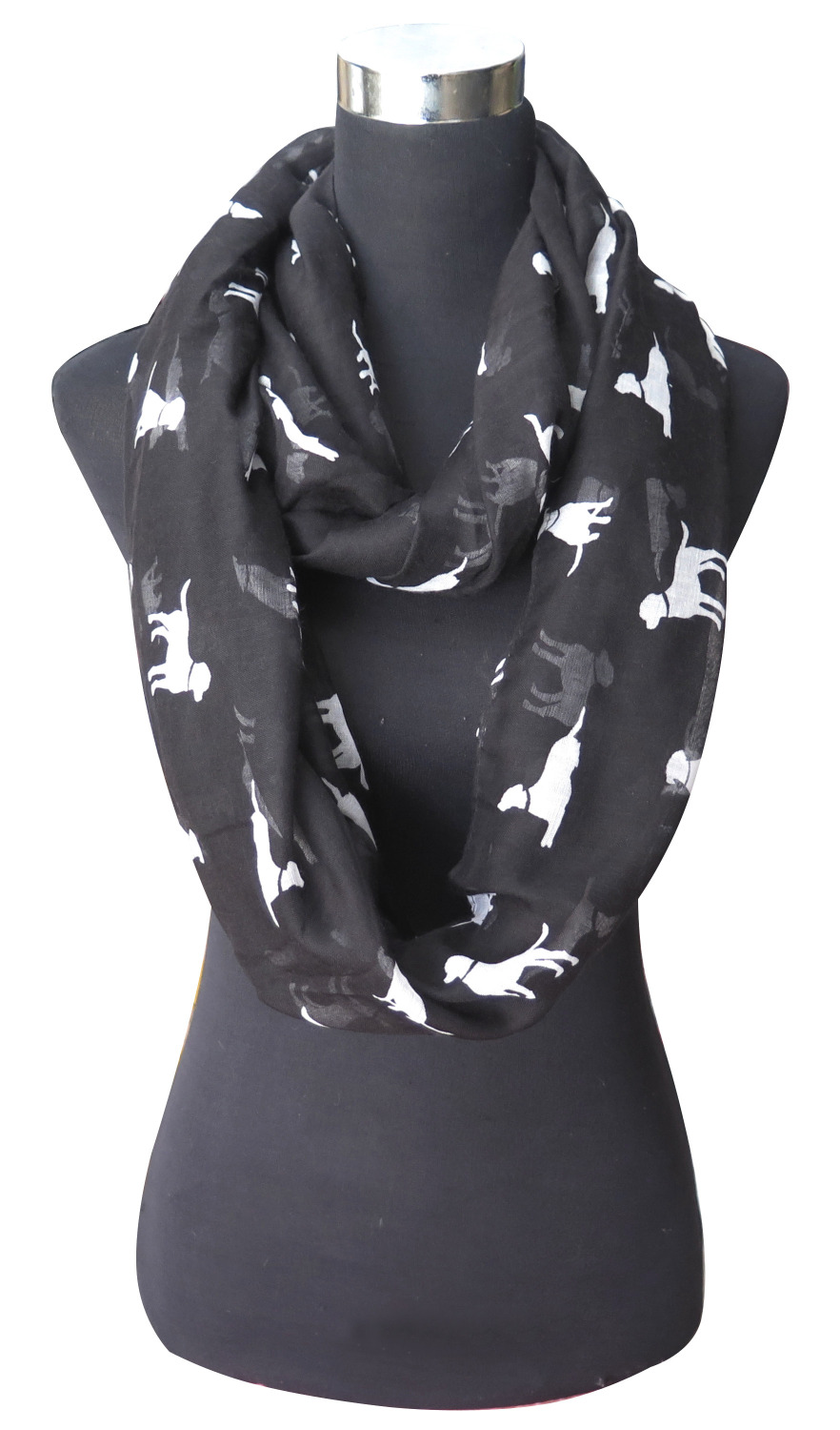 Labrador Retriever Dog Print Women's Infinity Loop Scarf Lightweight, Free Shipping(China (Mainland))