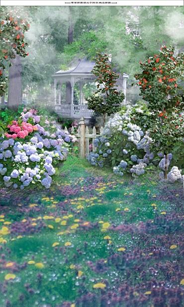 600CM*300CM fundo Fresh garden pavilion3D baby photography backdrop background LK 2105<br><br>Aliexpress