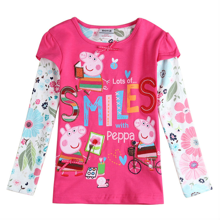 Fashion Brand Girls Fashion T Shirts Children Clothing