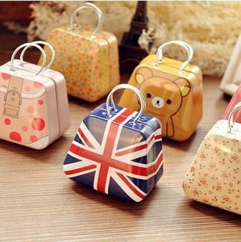 Peninsula Receive A Case That Occupy The Home Iron Box Creative Handbag Mini Receive a Small Coin Box Lovely Sweet Box