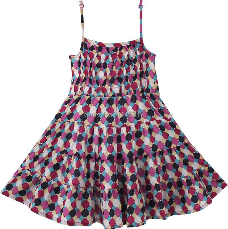 Girls Dress Smocked Brown Beach Sundress Elegant Party Kids Clothes 2-5 NWT(China (Mainland))