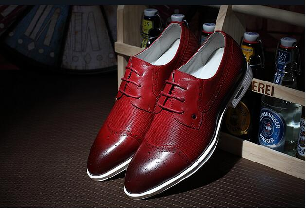 Фотография Mens Shoes Leather Casual High Quality Flats Dress Shoes Men Autumn Oxfords Shoes For Mens Leather Shoes Zapatos Hombre