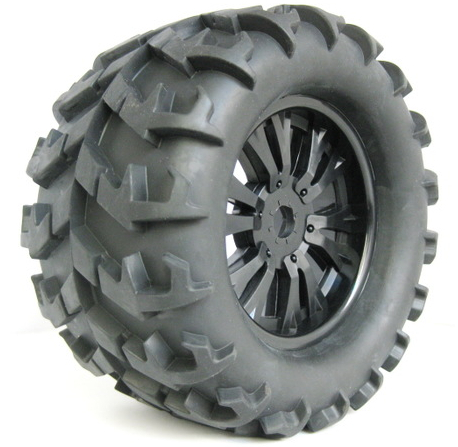 150MM venue truck tires , 1 /8 off-road vehicles have changed monster truck special , 17mm adapter(China (Mainland))