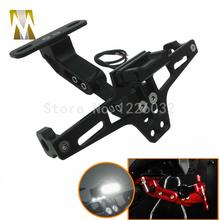 Motorcycle Parts Universal motorbike Adjustable Angle Aluminum License Number Plate Frame Holder Bracket For Honda Yamaha(China (Mainland))