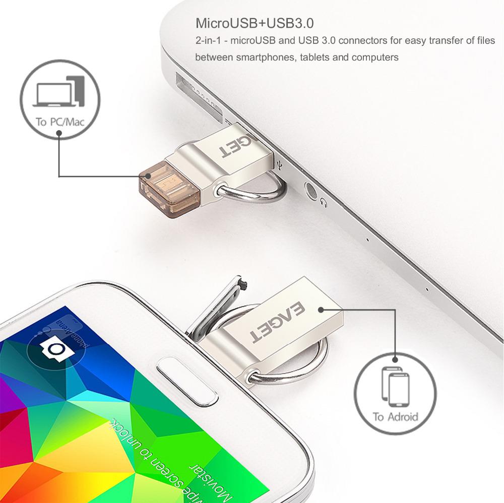 EAGET V90 16GB 32GB 64GB USB Flash Drive Encryption USB 3 0 OTG Smartphone Pen Drive