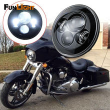 Buy 1Psc Black 7 Inch Round Motorcycle LED Projector Daymaker Hi/Lo Beam Headlight Harley Davidson Led Headlamp for $46.00 in AliExpress store