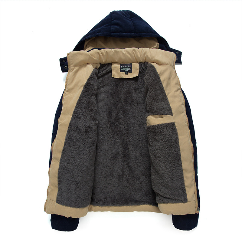 2015 hot sale winter jacket mens hooded wadded coat outerwear cotton padded youth popular clothes parka