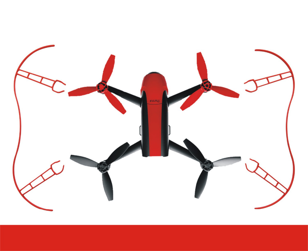 2pcs/set Parrot Propeller Prop Protective Guard Bumper Protector for Rc Drone Parrot Bebop 2.0 Quadcopter White Red