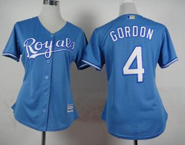 New! Women Kansas City Royals Jersey 6 Lorenzo Cain 4 Alex Gordon 35 Eric Hosmer 13 Perez Baseball Jersey Shirt Blue 444<br><br>Aliexpress