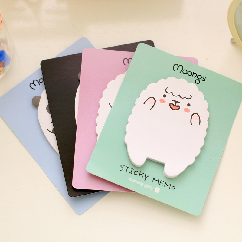 8 pcs/Lot Cute Moongs memo pad Sticky note Paper sticker Cute panda post it Stationery office accessories School supplies 6811(China (Mainland))