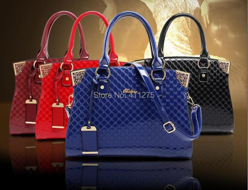 New Arrived ! Luxury Women messenger Bag ,ladies patent leather handbag woman shoulder crossbody Bags lady Fashion tote(China (Mainland))