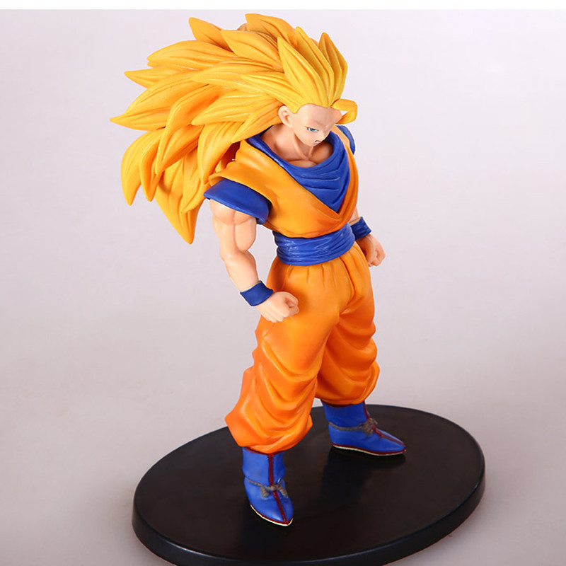 Dragon Ball Z Action Figures Collectible Toy Anime Figure Super Saiyan 3 Son Goku Pvc 16cm Soldier Set In-stock Items Model(China (Mainland))
