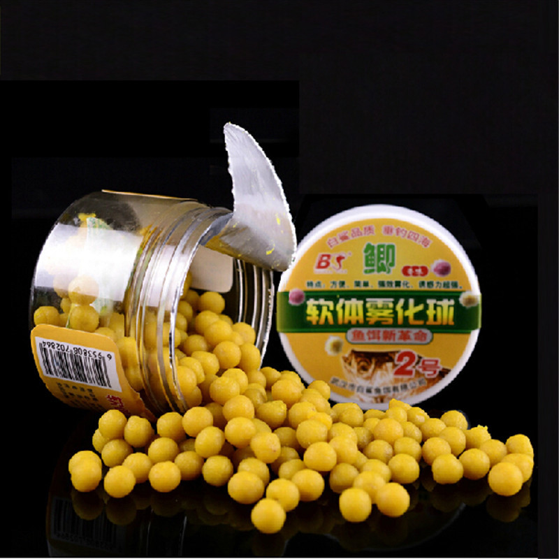 2015 new!! fishing bait carp soft lure smell fishy one box 100grams 1cm/pcs wheat protein pasca tackle - Anmuka Fishing Tackle store