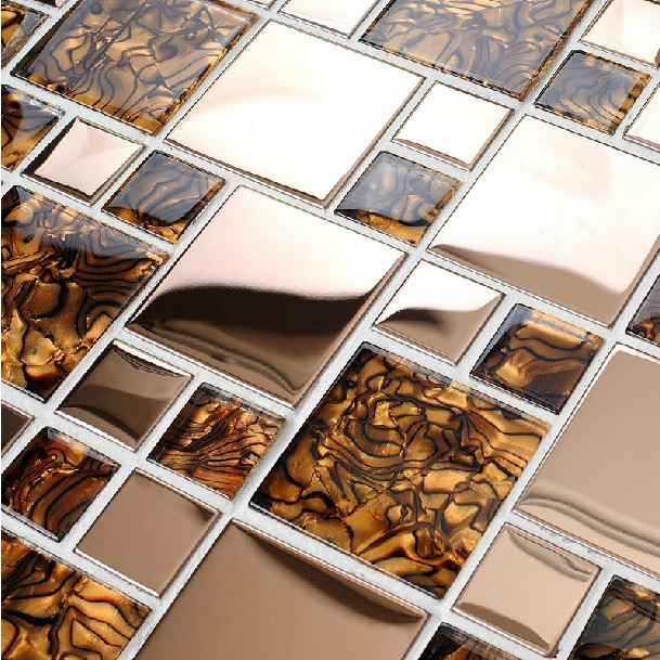 Azulejos Para Baño Lowes:Amber Glass Mosaic Tile Kitchen Backsplash
