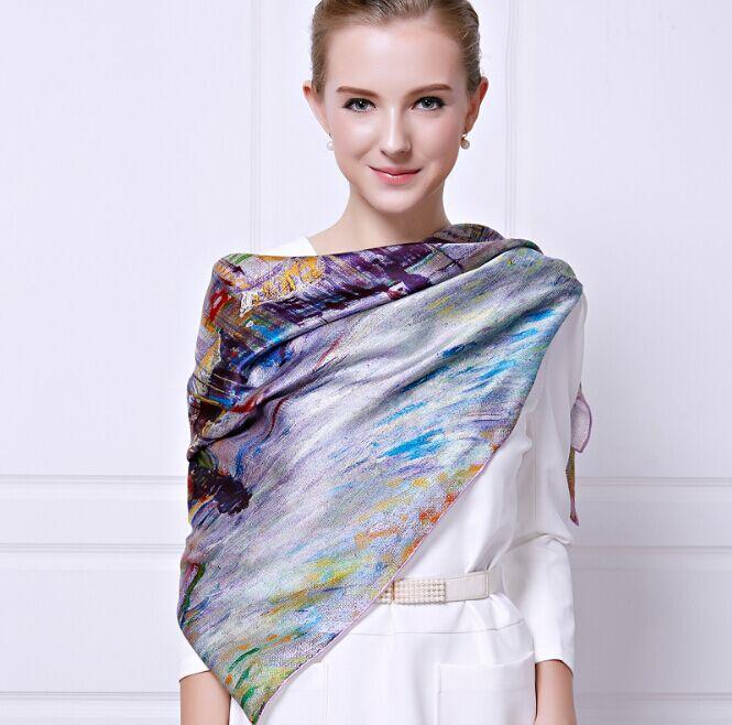 110*110cm New 2016 100% Silk square Scarf Shawl digital Print Brand Vintage Scarves high quality Silk Scarves wholesale price(China (Mainland))
