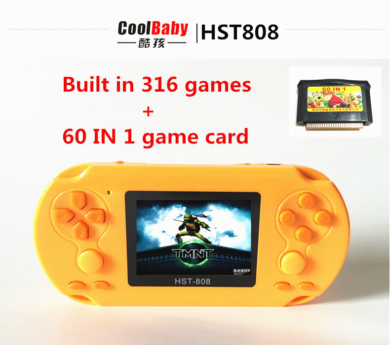 2015 Built-in lithium battery 2.5 inch LCD Players Games Console Handheld Game Player 376 games Free Shipping(China (Mainland))