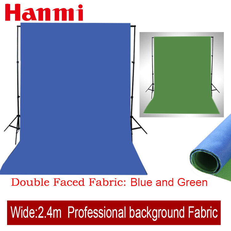 Double Faced Fabric Green,Blue Width 2.4 M Photography Photo Studio Cotton Chromakey Screen Muslin Background Cloth Backdrops(China (Mainland))