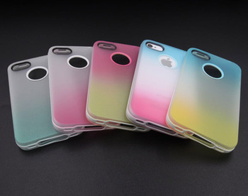 Новый специальный мягкий силиконовый протектор телефон обложка чехол для iPhone 4 4S 4 г чехол красивая радуга градиент вернуться обложки PC0069
