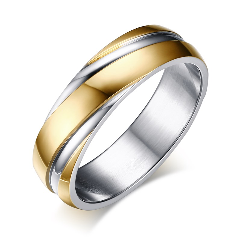 2016 Cool Ring For Men And Women Gold Plated Stainless