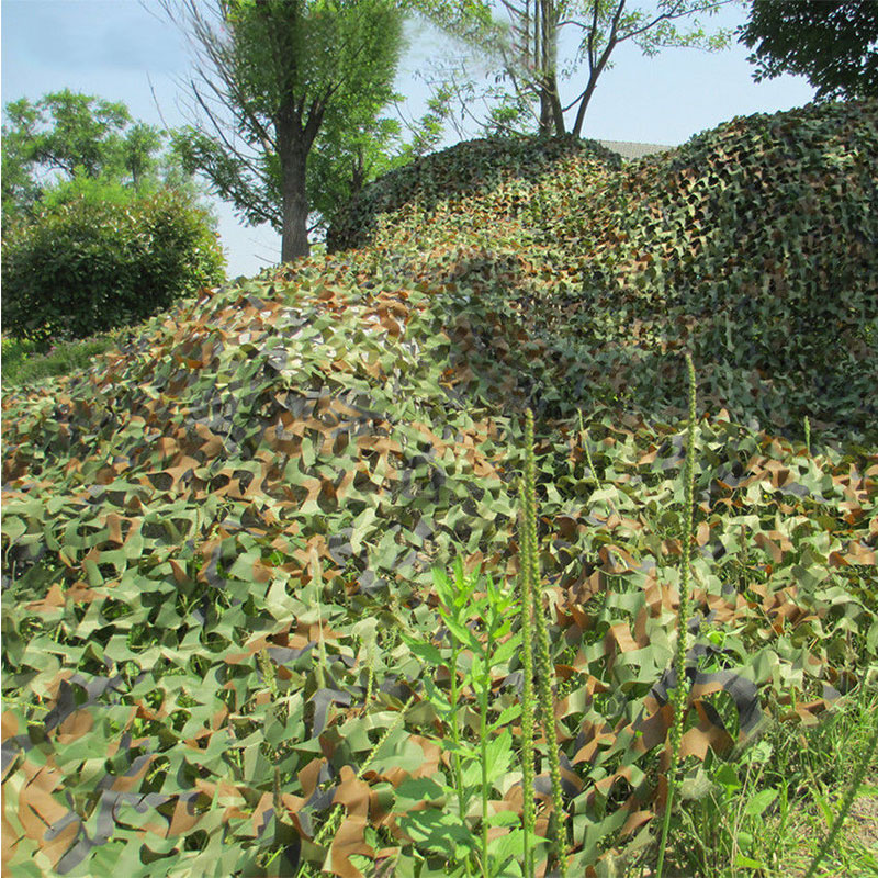 3x2M Hunting Military Camouflage Net Woodlands Leaves jungle Camo Cover Car Drop netting Field game CS combat bird observation(China (Mainland))