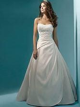 Elegantní svatební šaty bez ramínek z Aliexpress