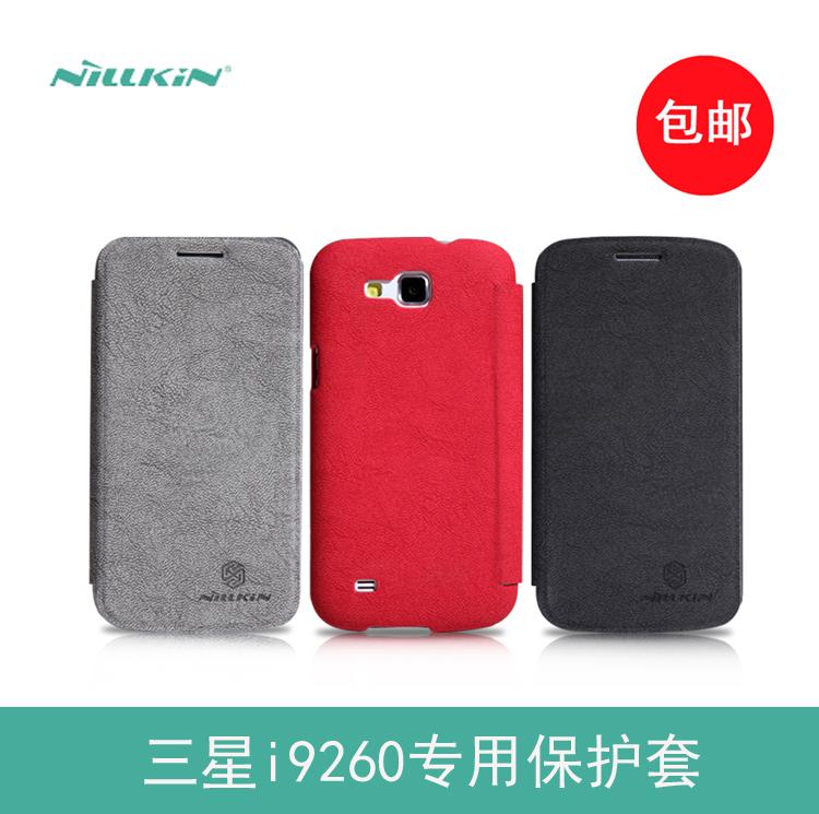100% Original Nillkin PU Leather Case Samsung Galaxy Premier I9260 Plastic I9260+Free Screen Protector - Eyki Ma's store
