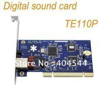 FREE SHIPPING 1 E1 T1 TE110P Asterisk digital card ISDN PRI PCI card