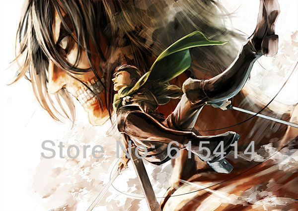 "15 Attack on Titan Japanese Anime 38""x24"" inch wall Poster with Tracking Number"