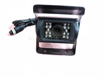 Rear view CCD Camera for bus,truck,trailer with 4-pin waterproof connector