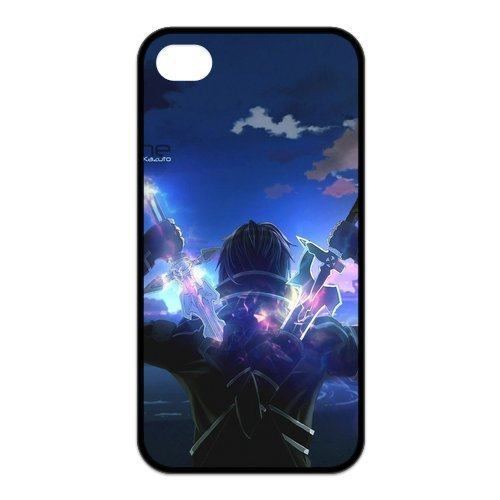 Custom Sword Art Online SAO Background pattern DIY hard PC Phone Cases protective shell for iPhone 4,4s 5s 5c Mobile Skin Cover(China (Mainland))