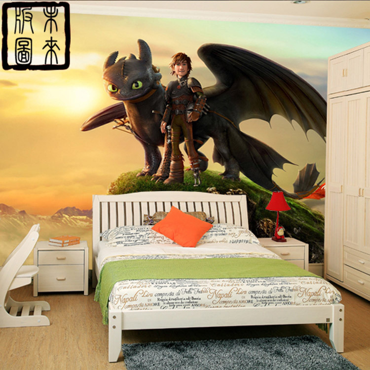 Buy how to train your dragon photo for Boys mural wallpaper