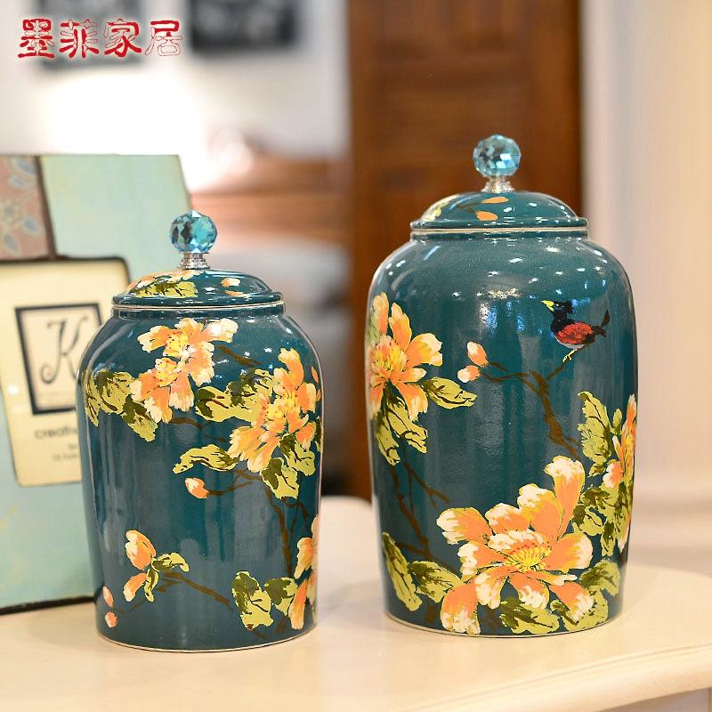 Здесь можно купить  Hand painted green background for stylish simplicity creative high-grade ceramic glaze storage tank / storage tank of Decoration  Обувь