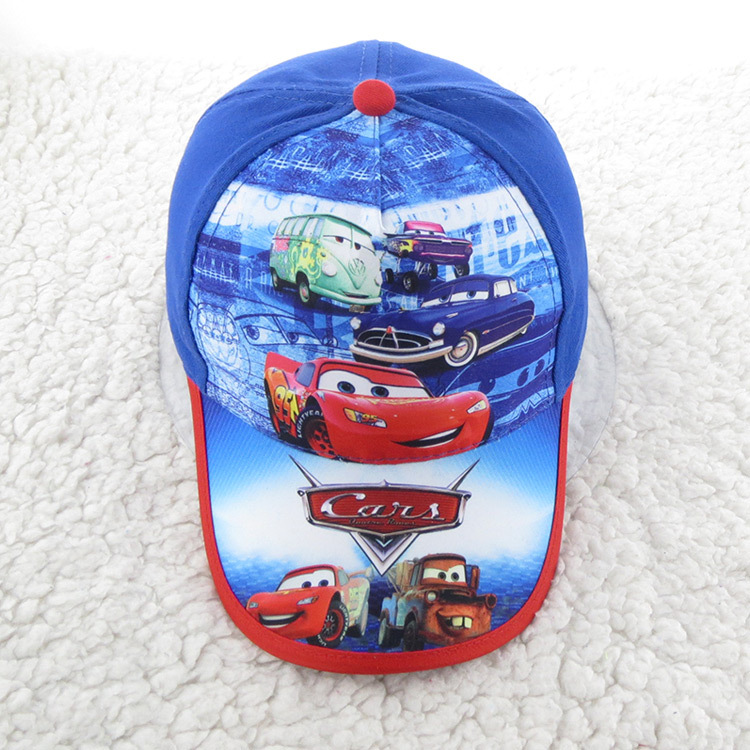 Fashion Summer Cars Hats Kids Baseball Cap Cartoon Hats Sunhat Baseball Caps Sport Cap Hat for Child Kids Boys Fit For 52-54cm(China (Mainland))