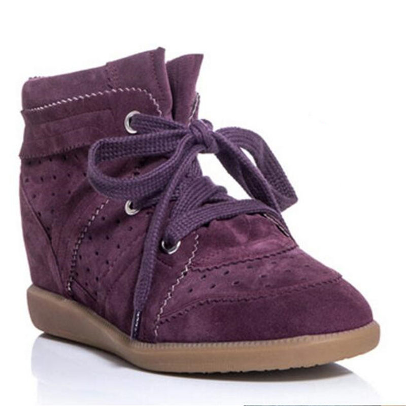 New 18 Colors Bobby Shoes Women Ankle Boots Genuine Suede Leather Women Casual Shoes Isabel Platform Boots Women Wedges Shoes(China (Mainland))