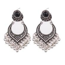 TopHanqi Indische Jhumka Schmuck Vintage Glocke Quaste Ohrring Boho Antike Ethnische Silber Tropfen Hängen Ohrringe Für Frauen Pendientes(China)