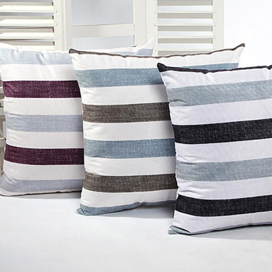 New Qualified Pillow Case Stripe Sofa Bed Home Decor Cushion Cover dig6322
